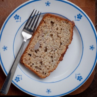 Banana bran bread with oats flax and wheatgerm on eatlivetravelwrite.com