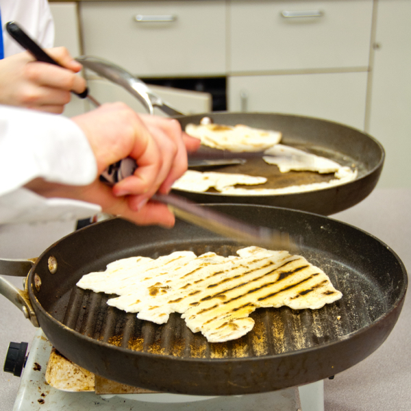 Cooking flatbreads on eatlivetravelwrite.com