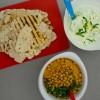 Flatbread, sweet potato hummus and yoghurt dip on eatlivetravelwrite.com