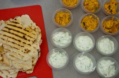 Jamie Oliver sweet potato hummus yoghurt dip and flatbreads on eatlivetravelwrite.com