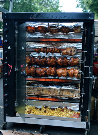Rotisserie Chicken in a Paris Market