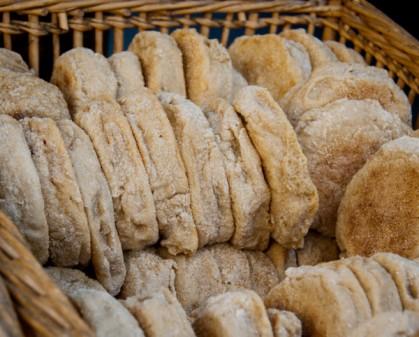 English muffins at Marche Raspail on eatlivetravelwrite.com