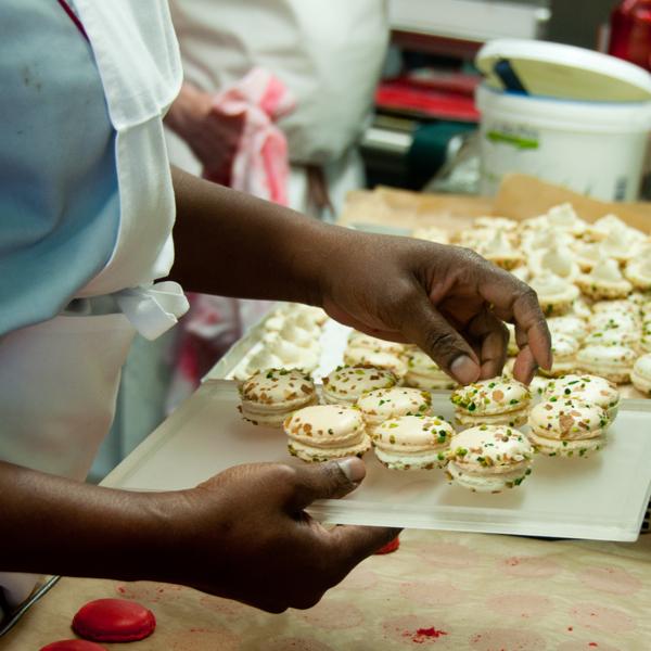 Macarons for tasting at gerard Mulot on eatlivetravelwrite.com