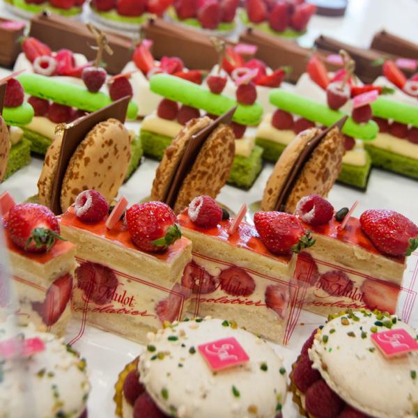 Cake selection at Gerard Mulot on eatlivetravelwrite.com