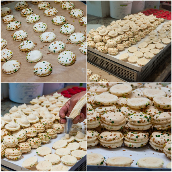 Filling macarons at Gerard Mulot on eatlivetravelwrite.com