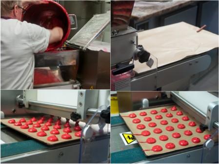 Macaron piping machine at Gerard Mulot
