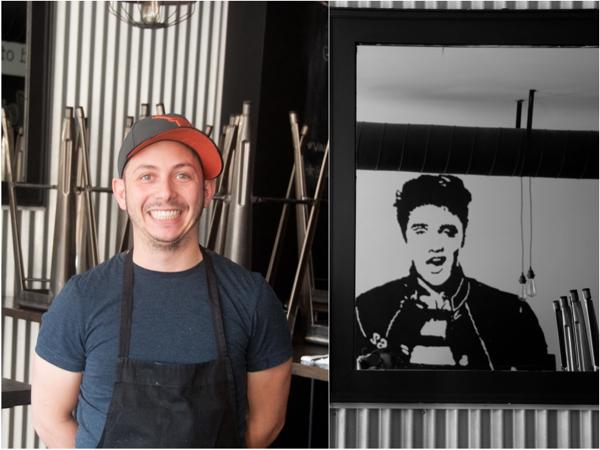 Matt Basile at Lisa Marie restaurant on eatlivetravelwrite.com