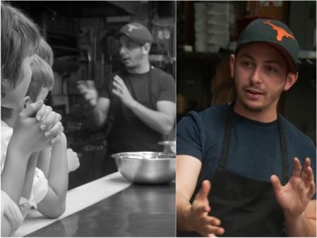 Matt Basile talking to Les Petits Chefs on eatlivetravelwrite.com