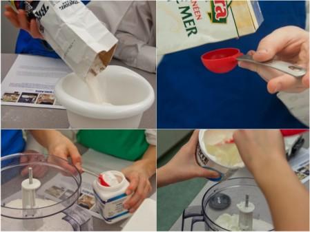 Measuring ingredients for Jamie Oliver flatbreads on eatlivetravelwrite.com