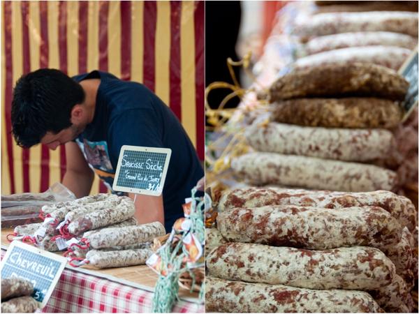 Saucisson at Paris markets on eatlivetravelwrite.com
