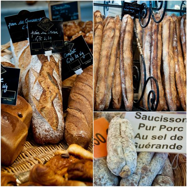 bread and charcuterie in Paris on eatlivetravelwrite.com