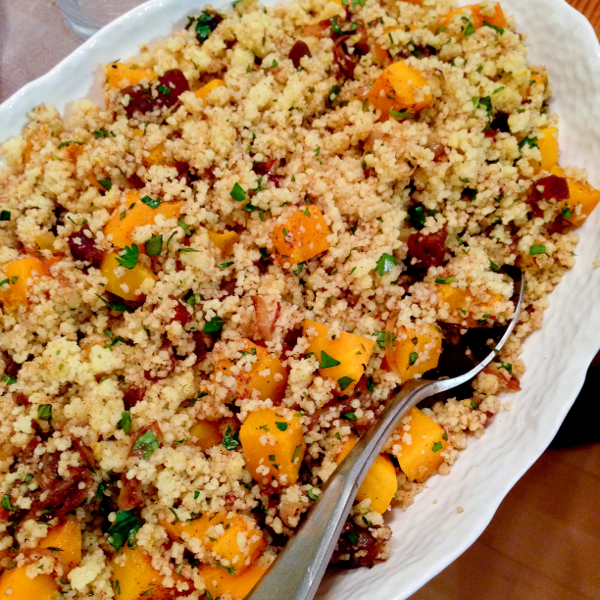 Ottolenghi couscous with dried apricots and butternut squash on eatlivetravelwrite.com