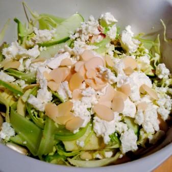 White salad with goat cheese and almonds on eatlivetravelwrite.com