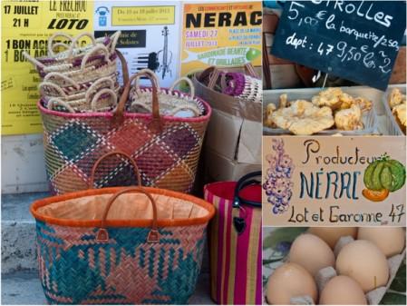 At the market in Nerac on eatlivetravelwrite.com