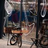Bicycle and Torvehallerne Market Copenhagen