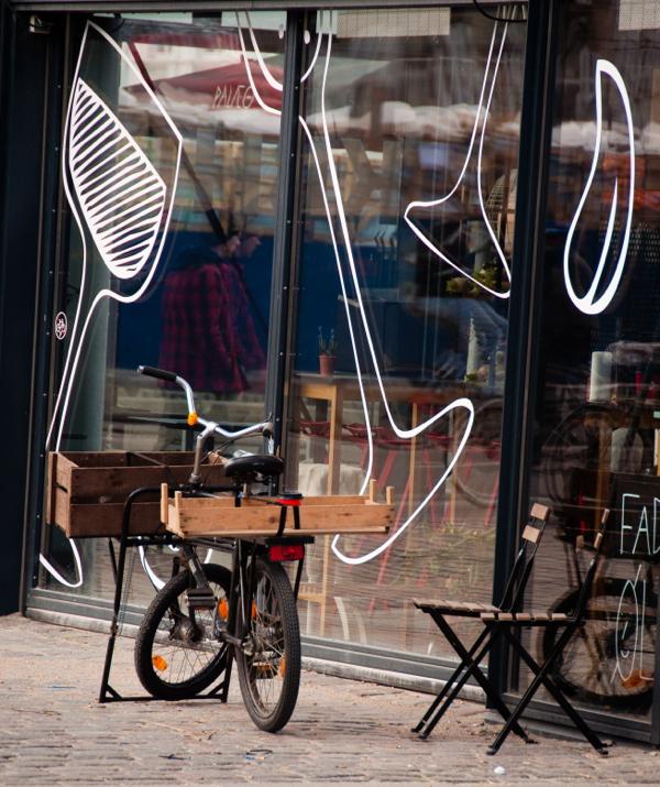 Bicycle at Torvehallerne Market Copenhagen