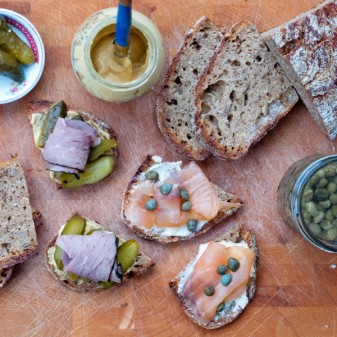 Dorie Greenspan tartines from La Croix Rouge from Around my French Table on eatlivetravelwrite.com