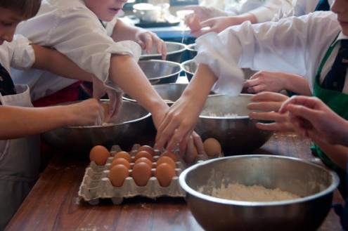 KIds cracking eggs 3 on eatlivetravelwrite.com