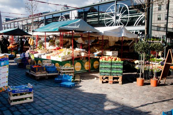 Outside at Torvehallerne Market Copenhagen