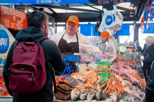 Fishmonger at Torvehallerne Market Copenhagen on eatlivetravelwrite.com