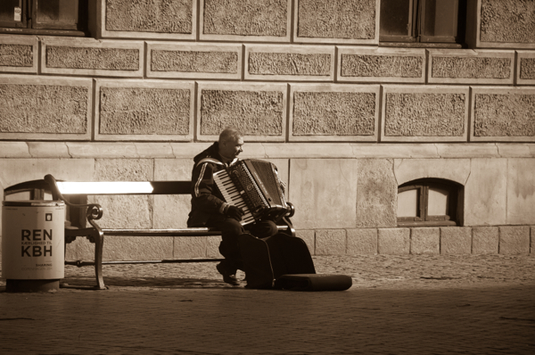 Accordion player in Copenhagen on eatlivetravelwrite.com