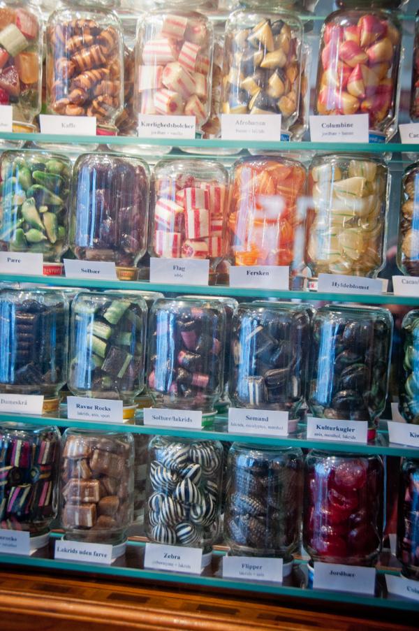 Inside Somods Bolcher candy store in Copenhagen