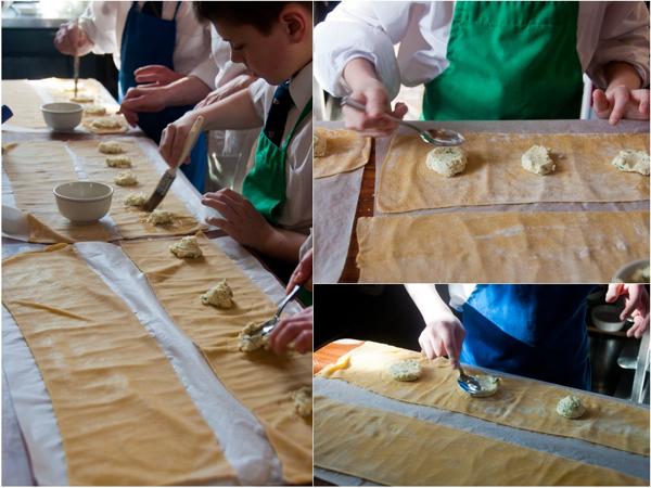 Pressing ravioli filling flat on eatlivetravelwrite.com