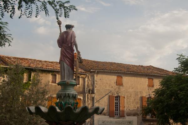 Town square in Neffies France on eatlivetravelwrite.com