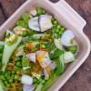 Baby Bok Choy, Sugar Snaps and Garlic on eatlivetravelwrite.com