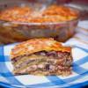 Beef and mushroom tortilla pie on eatlivetravelwrite.com