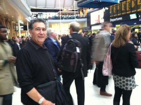 England Tim in Waterloo Station