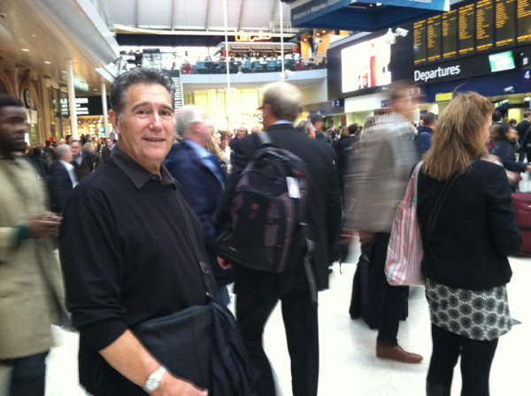 England Tim in Waterloo Station