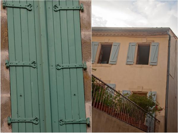 Green shutters in Neffies on eatlivetravelwrite.com