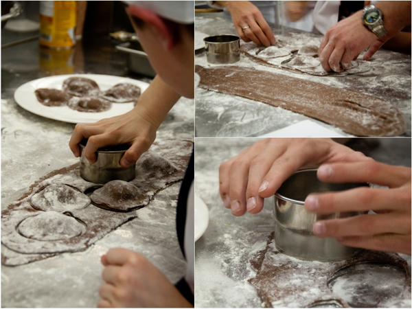 Kids making chocolate raviolis on eatlivetravelwrite.com