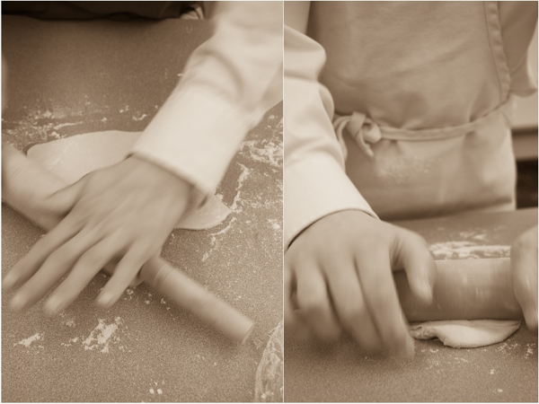 Kids rolling puff pastry on eatlivetravelwrite.com
