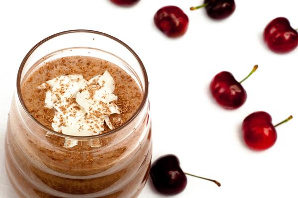 A cherry ripe smoothie on eatlivetravelwrite.com