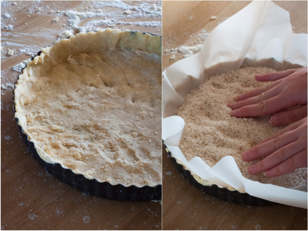 Blind baking the pie crust on eatlivetravelwrite.com