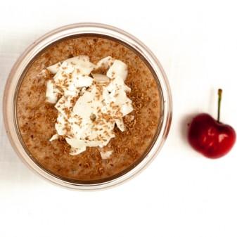 Cherry chocolate coconut smoothie on eatlivetravelwrite.com