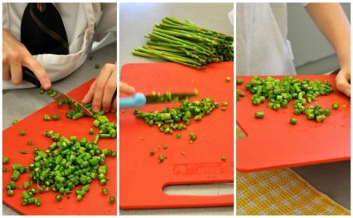 Kids Chopping asparagus on eatlivetravelwrite.com