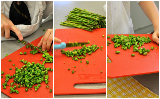 Kids Chopping asparagus on eatlivetravelwrite.com