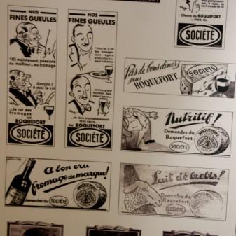 Vintage Roquefort advertisement on eatlivetravelwrite.com