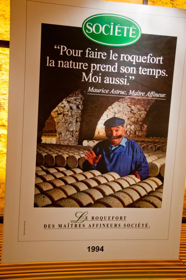 Societe Roquefort poster on eatlivetravelwrite.com