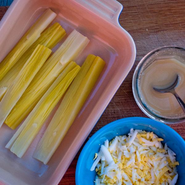 Leeks Vinaigrette with Mimosa on eatlivetravelwrite.com
