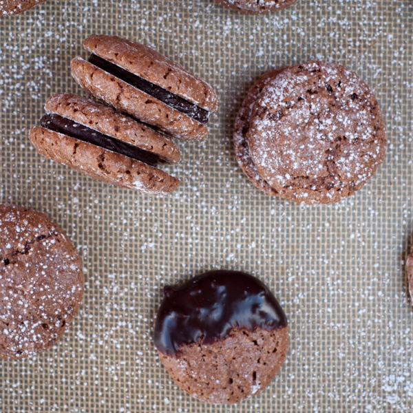 Chocolate macarons de Nancy with Green and Blacks ginger ganache on eatlivetravelwrite.com
