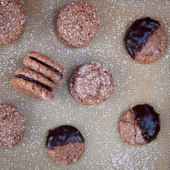 Chocolate macarons de Nancy with Green + Blacks chocolate ginger ganache on eatlivetravelwrite.com