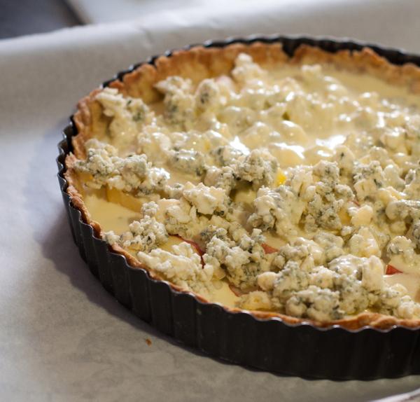 Dorie Greenspan quiche with Gorgonzola and apple on eatlivetravelwrite.com