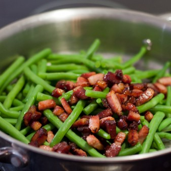 Green beans with pancetta on eatlivetravelwrite.com