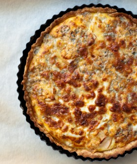 Quiche with gorgonzola and apple on eatlivetravelwrite.com
