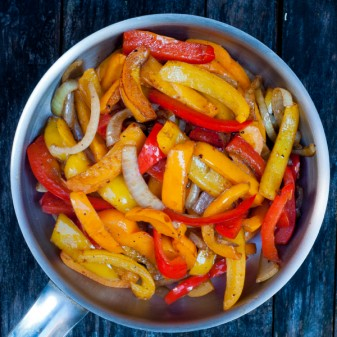 Piperade stir fry on eatlivetravelwrite.com