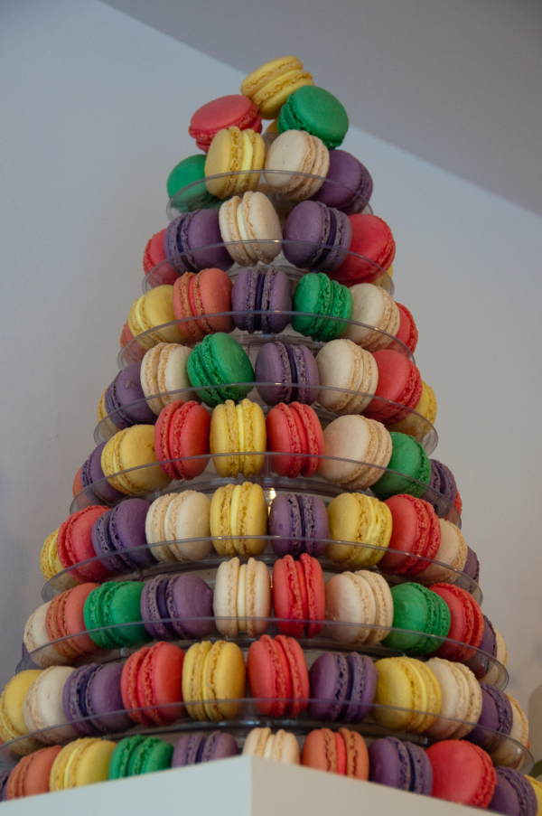 Macaron tower at Sandrine Pastry on eatlivetravelwrite.com